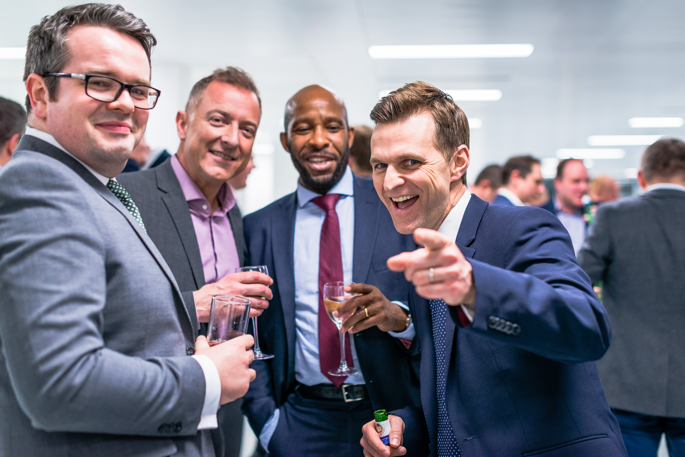 Happy Gents at a Corporate Social Event at 55 Colmore Row in Birmingham